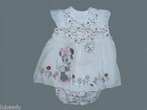 robe bebe minnie mouse blanche jolie ensemble naissance 1 With robe naissance