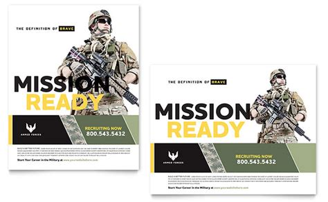 military poster template word publisher