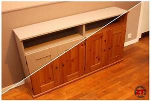 Repeindre Un Meuble En Bois Vernis : tuto repeindre un meuble en kit ~ Melissatoandfro.com Idées de Décoration