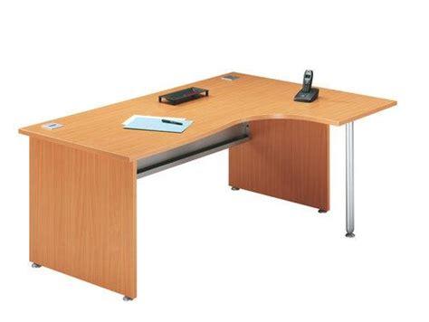 fly bureau evo bureau angle avec retour à droite et pied de soutien primo