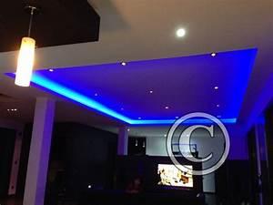 Eclairage Led En Ruban : galerie design eclairage d 39 un salon en ruban led et spots ~ Premium-room.com Idées de Décoration