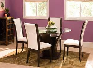 venice 5 pc 48 quot glass dining set dining sets raymour
