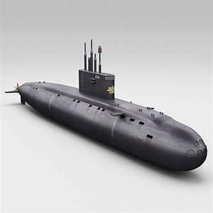 Russian Kilo Class Submarine 3d Model