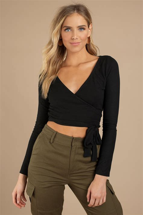 Tobi Crop Tops | Womens Shape Of You White Ribbed Wrap Top ...