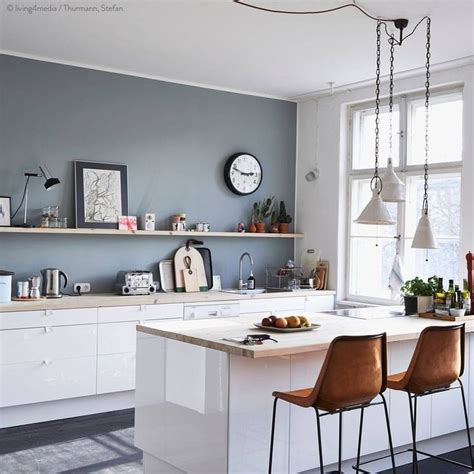 25 Best Collection Of Wall Color For Kitchen With White
