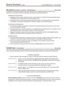 writing resume sle resume writing sle resumes