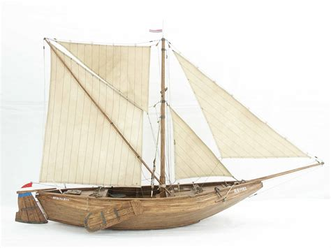 Model Fishing Boat Hull by Boat Model Of Dutch Fishing Vessel With Flat Bottomed Hull