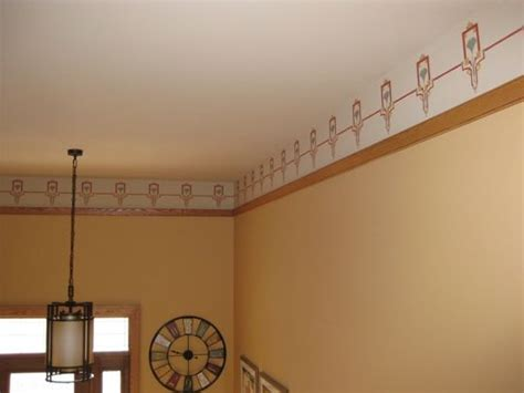 custom designed craftsman stencil border painted