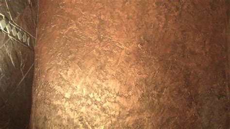 textured metallic wall finish