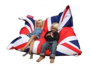 pouf poire drapeau anglais pouf