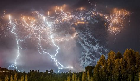 clouds cataclysm thunder lightning russia trees