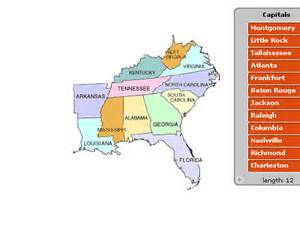 Southeast Region States and Capitals