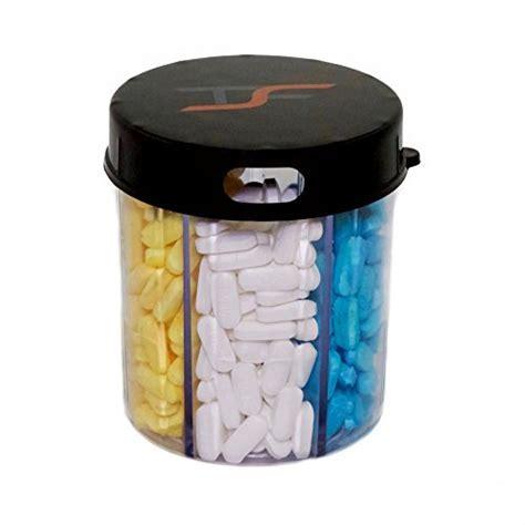 TSF Travel Pill Vitamin Medication Holder Dispenser