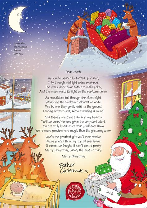christmas letter from santa nspcc personalised letter from santa 20847 | NSPCC Letter from Santa Babys First Christmas 2014