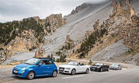 cabrio touren süddeutschland fiat 500c audi a5 vw golf r und bmw 640i autozeitung de