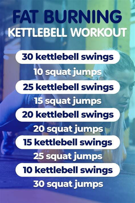 fat kettlebell cardio self loss workout belly lose weight bell swings