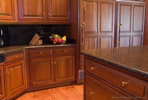 pictures  kitchens traditional medium wood kitchens