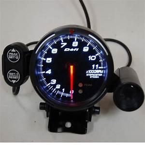 2019 Defi 80mm Tachometer Gauge Defi Rpm Meter With Shift Light Back Light Color  White    Red