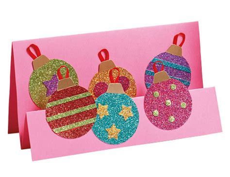 Enjoy making these greeting cards this. How To Make: A glittery Christmas card