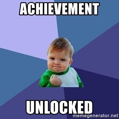 Achievement Unlocked Meme - achievement unlocked success kid meme generator