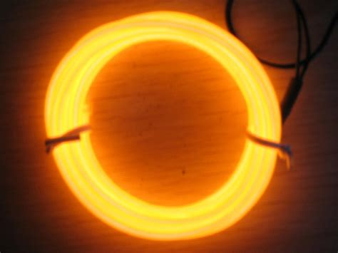 sell el wire orange light with different lenght shenzhen