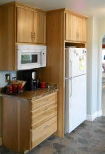 Wine Refrigerator Cabinets Wood by Kitchens Remodeled Spokane Contractor