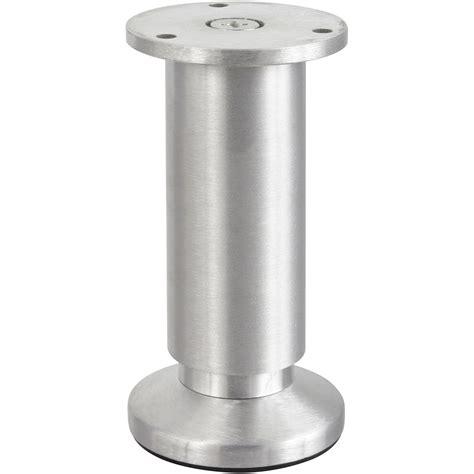 pied de meuble de cuisine pied de meuble cylindrique réglable aluminium brossé gris