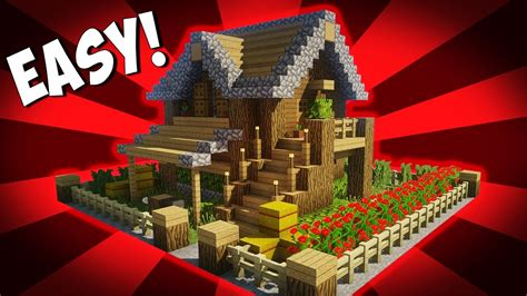 minecraft   build  small survival house tutorial  easy build youtube