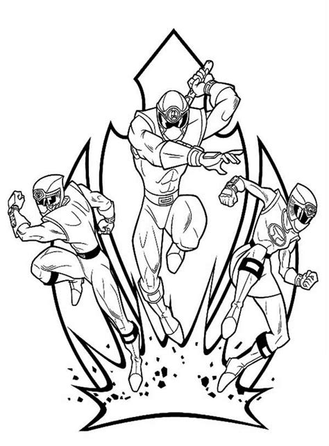 power rangers ninja storm  action coloring page color luna