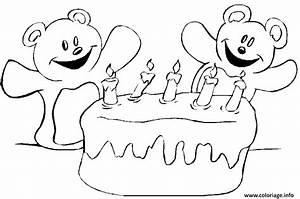 Dessin Gateau Anniversaire : coloriage gateau d anniversaire avec 5 bougies dessin ~ Melissatoandfro.com Idées de Décoration