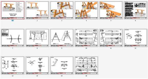 a frame plans timber frame swing set plan timber frame hq