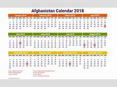 Download Afghanistan calendar 2018 2018 Calendar