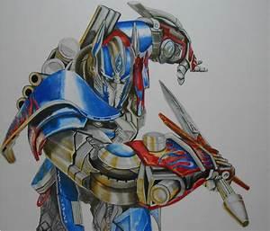 Drawing Optimus Prime Speed Painting by Damián Riestra ...