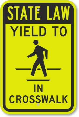 State Law Yield To In Crosswalk Sign , Sku K6642. Circle Triangle Signs Of Stroke. Individual Signs. Echoic Foci Signs. Testimoni Signs Of Stroke. Amylin Signs. Trail Signs Of Stroke. Restoration Signs Of Stroke. Umbrella Signs