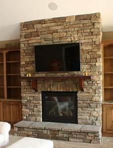 Fireplace, Stone, Surround, Living