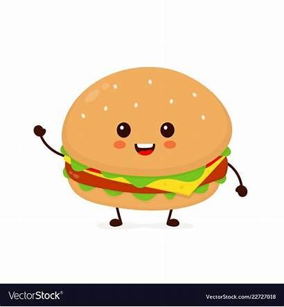 Sandwich Clipart Burger Smiling Happy Funny Clip