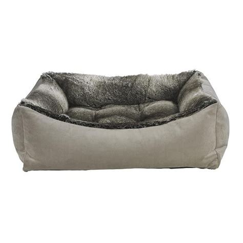 Make a statement in kids rooms with the funky 'scoop' bunk bed! Chinchilla Faux Fur Scoop Bed | Bolster dog bed, Dog bed ...