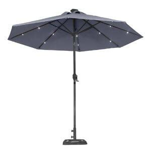 illumination with a solar patio umbrella yard surfer