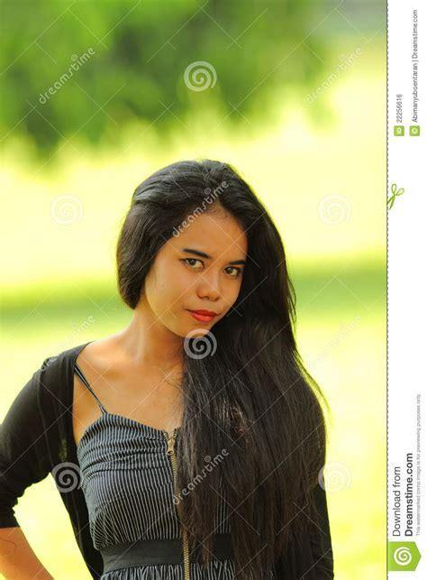 Exotic Indonesian Teen Asian Beauty Royalty Free Stock