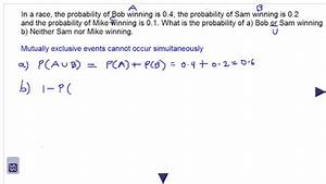 Probability  Mutually Exclusive Events And Venn Diagrams