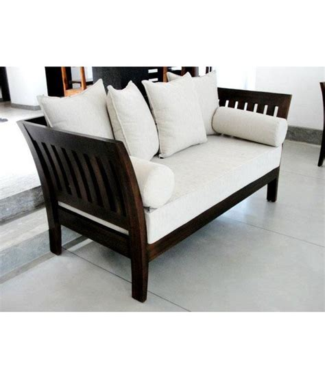 Wood Sofa by Stratego Solid Wood Sofa Set With Cushion And Covers 3 1 1