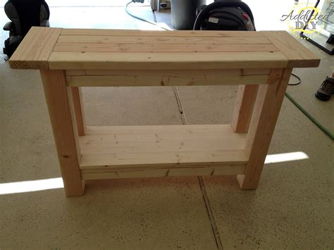 how to a console table unfinished custom diy wood outdoor console table with