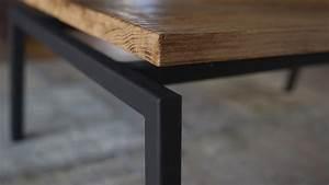 Pied De Table Metal Carré : table basse pieds vas s plateau volant atelier ~ Teatrodelosmanantiales.com Idées de Décoration