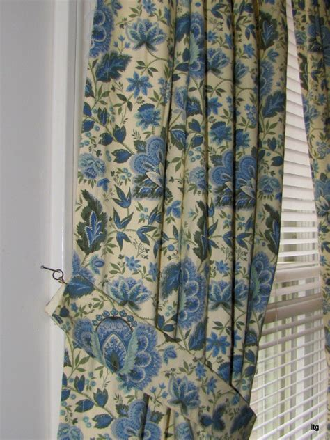 waverly curtains and drapes waverly curtains blue and green drapery by