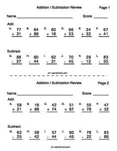 the code with addition and subtraction subtraction