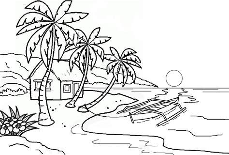 Cara mengambar dan mewarnai pemandangan dasar laut mp3 & mp4. Mewarnai Gambar Pantai - Kreasi Warna