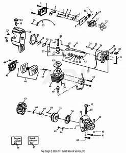 Poulan Xt 90 Gas Trimmer  Xt 90 Parts Diagram For Engine