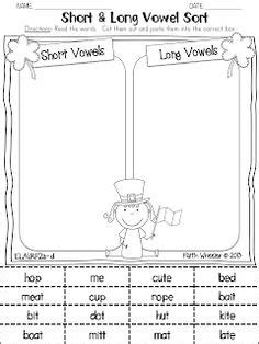 long  vowel work images sight words vowel