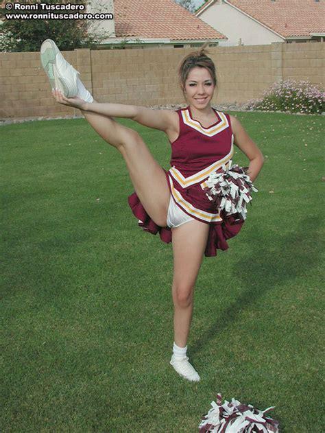 Sexy Blondie In Slutty Cheerleader Uniform Xbabe