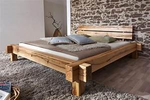Bett 140x200 Günstig Kaufen : massivholz balkenbett 200x200 bett rustikal doppelbett wildeiche ge lt ~ Indierocktalk.com Haus und Dekorationen
